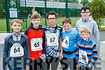 Kacper Watrakiewicz, Alex Clifford, Brendan Dwyer, James Riordan, Mark Riordan and Tom Stewart, who took part in CBS, The Green fun run on Sunday last.