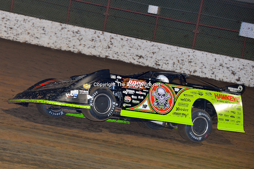 May 24, 2013; 10:00:30 PM; Wheatland, Mo., USA; The  Lucas Oil Late Model Dirt Series running the 21st Annual Lucas Oil Show-Me 100 Presented by ProtectTheHarvest.com.  Mandatory Credit: (thesportswire.net)