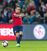 June 10th 2017, Ullevaal Stadion, Oslo, Norway; World Cup 2018 Qualifying football, Norway versus Czech Republic;  Stefan Johansen of Norway in action during the FIFA World Cup qualifying match