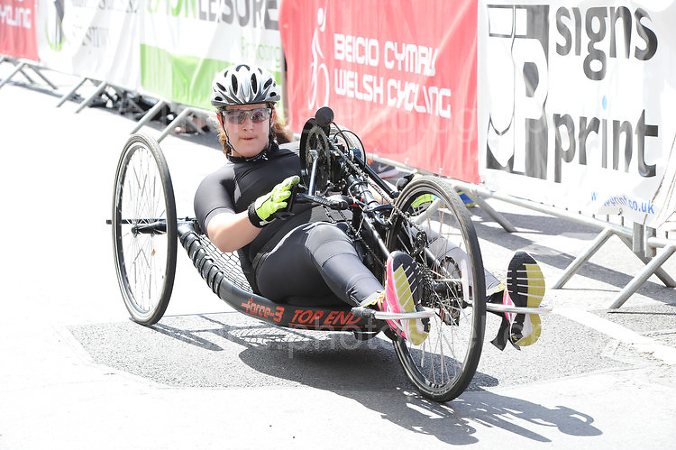 """Competitor Alison Webb during the Abergavenny Festival of Cycling """"Para Grand Prix of Wales"""" race on Sunday 17th 2016<br /> <br /> <br /> Jeff Thomas Photography -  www.jaypics.photoshelter.com - <br /> e-mail swansea1001@hotmail.co.uk -<br /> Mob: 07837 386244 -"""