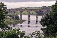 Royal Border Bridge, Robert Stevenson, Berwick-upon-Tweed from town wall
