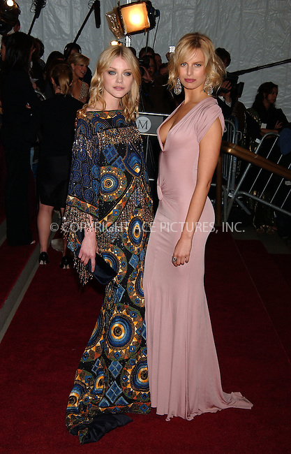 "WWW.ACEPIXS.COM................May 7 2007, New York City....Jessica Stam and Karolina Kurkova....Arrivals at the 2007 Costume Institute Benefit Gala ""Poiret: King Of Fashion"" at the Metropolitan Museum of Art. ....Byline:  KRISTIN CALLAHAN - ACEPIXS.COM....For information please contact:....Philip Vaughan, 212 243 8787 or 646 769 0430..Email: info@acepixs.com..Web: WWW.ACEPIXS.COM"