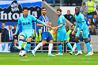 Son Heung-Min of Tottenham Hotspur plays a pass during Brighton & Hove Albion vs Tottenham Hotspur, Premier League Football at the American Express Community Stadium on 5th October 2019
