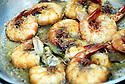 Mosca's famous shrimp at the restaurant in Avondale, Thur., Aug. 17, 2006.<br /> (Cheryl Gerber for New York Times)
