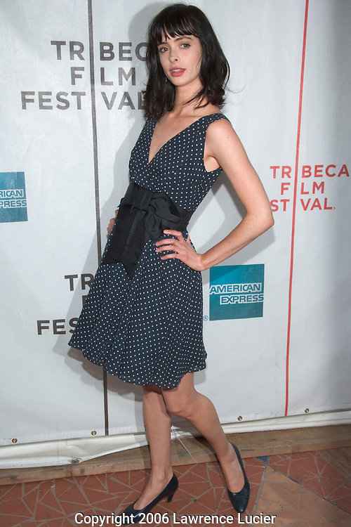 "Actress Krysten Ritter arrives at the Tribeca Film Festival for the screening of the film ""I'm Reed Fish"" at Regal Cinemas Battery Park April 29, 2006 in New York City.. (Pictured : Krysten Ritterl)."