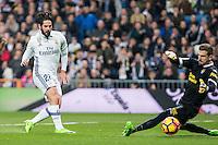 Isco Alarcon of Real Madrid in action during the match of Spanish La Liga between Real Madrid and UD Las Palmas at  Santiago Bernabeu Stadium in Madrid, Spain. March 01, 2017. (ALTERPHOTOS / Rodrigo Jimenez) /NortePhoto.com