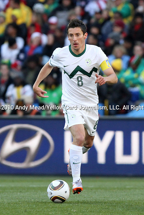 18 JUN 2010: Robert Koren (SVN). The Slovenia National Team played the United States National Team to a 2-2 at Ellis Park Stadium in Johannesburg, South Africa in a 2010 FIFA World Cup Group C match.