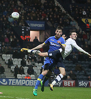 Preston North End's Alan Browne scores his sides third goal <br /> <br /> Photographer Mick Walker/CameraSport<br /> <br /> The EFL Sky Bet Championship - Preston North End v Leeds United - Tuesday 10th April 2018 - Deepdale Stadium - Preston<br /> <br /> World Copyright &copy; 2018 CameraSport. All rights reserved. 43 Linden Ave. Countesthorpe. Leicester. England. LE8 5PG - Tel: +44 (0) 116 277 4147 - admin@camerasport.com - www.camerasport.com