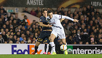 Nabil Bentaleb of Tottenham Hotspur & Mario Pasalic of Monacobattle for the ball during the UEFA Europa League group match between Tottenham Hotspur and Monaco at White Hart Lane, London, England on 10 December 2015. Photo by Andy Rowland.
