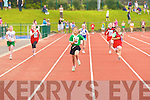 Aisling Mahony Lixnaw leads the field in the u10 100m heat at the Denny County Community Games in An Riocht Castleisland on Sunday   Copyright Kerry's Eye 2008