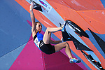 Akiyo Noguchi (JPN), <br /> AUGUST 26, 2018 - Sport Climbing : <br /> Women's Combined Final Bouldering <br /> at Jakabaring Sport Center Sport Climbing <br /> during the 2018 Jakarta Palembang Asian Games <br /> in Palembang, Indonesia. <br /> (Photo by Yohei Osada/AFLO SPORT)