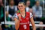 04.02.2018, Halle Berg Fidel, Muenster<br />Volleyball, Bundesliga Frauen, Normalrunde, USC MŸnster / Muenster vs. MTV Allianz Stuttgart<br /><br />Jubel Nika Daalderop (#9 Stuttgart)<br /><br />  Foto &copy; nordphoto / Kurth