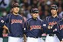 (L to R) .Masahiro Tanaka (JPN), .Toshiya Sugiuchi (JPN), .Kenta Maeda (JPN), .MARCH 6, 2013 - WBC : .2013 World Baseball Classic .1st Round Pool A .between Japan 3-6 Cuba .at Yafuoku Dome, Fukuoka, Japan. .(Photo by YUTAKA/AFLO SPORT)