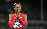 05.08.2012. London, England. Sanya Richards Ross of USA reacts After Winning in Womens 400m Final  London 2012 Olympic Games Sanya Richards Ross of USA Won Gold Medal