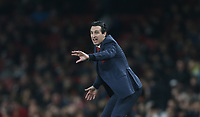 Arsenal manager Unai Emery <br /> <br /> Photographer Rob Newell/CameraSport<br /> <br /> UEFA Europa League Round of 32 Second Leg - Arsenal v BATE Borisov - Thursday 21st February 2019 - The Emirates - London<br />  <br /> World Copyright © 2018 CameraSport. All rights reserved. 43 Linden Ave. Countesthorpe. Leicester. England. LE8 5PG - Tel: +44 (0) 116 277 4147 - admin@camerasport.com - www.camerasport.com