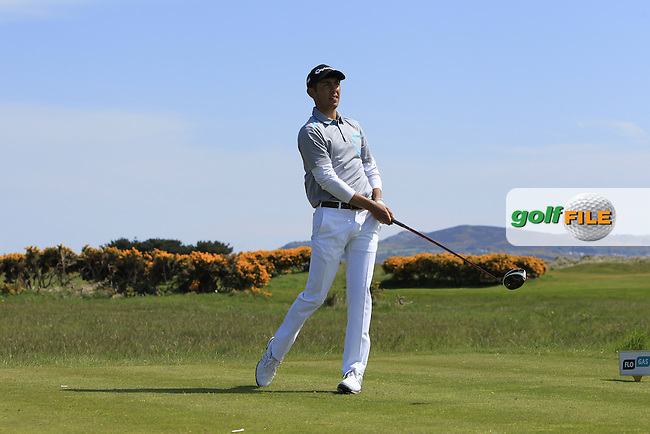 Jack Singh Brar (ENG) on the 13th tee during Round 4 of the Flogas Irish Amateur Open Championship at Royal Dublin on Sunday 8th May 2016.<br /> Picture:  Golffile / Thos Caffrey