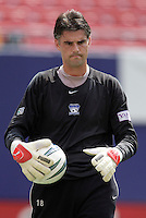 Earthquake's goalkeeper Pat Onstad during warm ups. The San Jose Earthquakes were shut out by  the NY/NJ MetroStars 2-0 at Giant's Stadium, East Rutherford, NJ, on July 10, 2004.