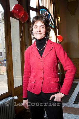 Genève, le 21.02.2009.Mme Anne Emery-Torracinta.© Le Courrier / J.-P. Di Silvestro