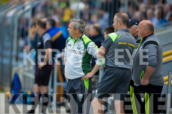 Kerry's Management  during the Kerry V Roscommon U17 match at Cusack Park Ennis on Saturday. Photograph by Eamon Ward