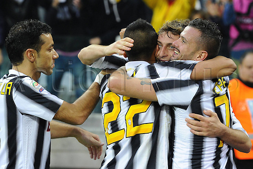 04 12 2011 Turin, Italy.  Series A Juventus versus Cesena Photo shows the goall celebration from Claudio Marchisio