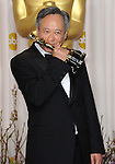 Ang Lee in the press room at the 85th Academy Awards, held at the Dolby Theater in Los Angeles, CA. February 24, 2013
