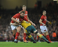 Wales' Tomas Francis is tackled by Australia's David Pocock<br /> <br /> Photographer Ian Cook/CameraSport<br /> <br /> Under Armour Series Autumn Internationals - Wales v Australia - Saturday 10th November 2018 - Principality Stadium - Cardiff<br /> <br /> World Copyright © 2018 CameraSport. All rights reserved. 43 Linden Ave. Countesthorpe. Leicester. England. LE8 5PG - Tel: +44 (0) 116 277 4147 - admin@camerasport.com - www.camerasport.com