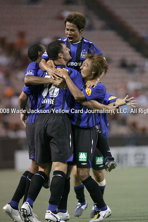 23 February 2008:  Bare (18) goal celebration.  The Houston Dynamo of the USA were defeated by Gamba Osaka of Japan 1-6 for the championship of the 2008 Pan Pacific Championship held at Aloha Stadium in Honolulu, Hawaii.