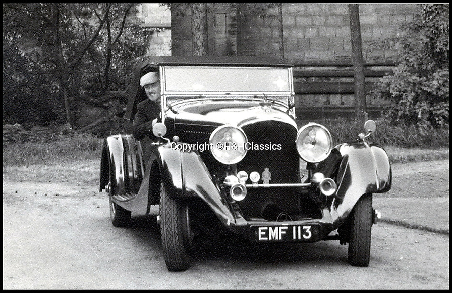 BNPS.co.uk (01202 558833)<br /> Pic:   H&HClassics/BNPS<br /> <br /> The second owner of the Bentley, Charles Philip Blackham. <br /> <br /> Mr Blackham served with the RAF's 1667 and 550 squadrons as a Flight Engineer and Pilot during World War Two.<br /> <br /> A rust-bucket Bentley car that belonged to a war hero who bombed Adolf Hitler has sold for over £454,000.<br /> <br /> The 1936 Bentley Vanden Plas tourer was bought by Charles Blackman seven years after the war.<br /> <br /> Mr Blackham had been a Lancaster bomber pilot in the RAF and bombed Hitler's 'Eagles Nest' mountain retreat in Bavaria in 1945.