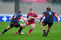 Steffan Hughes of Scarlets in action during the Guinness Pro14 Round 11 match between the Scarlets and Edinburgh Rugby at the Parc Y Scarlets in Llanelli, Wales, UK. Saturday 15 February 2020