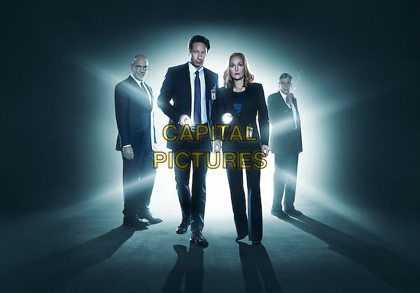 The X-Files (2016)<br /> Mitch Pileggi, David Duchovny, Gillian Anderson and William B. Davis<br /> *Filmstill - Editorial Use Only*<br /> CAP/KFS<br /> Image supplied by Capital Pictures