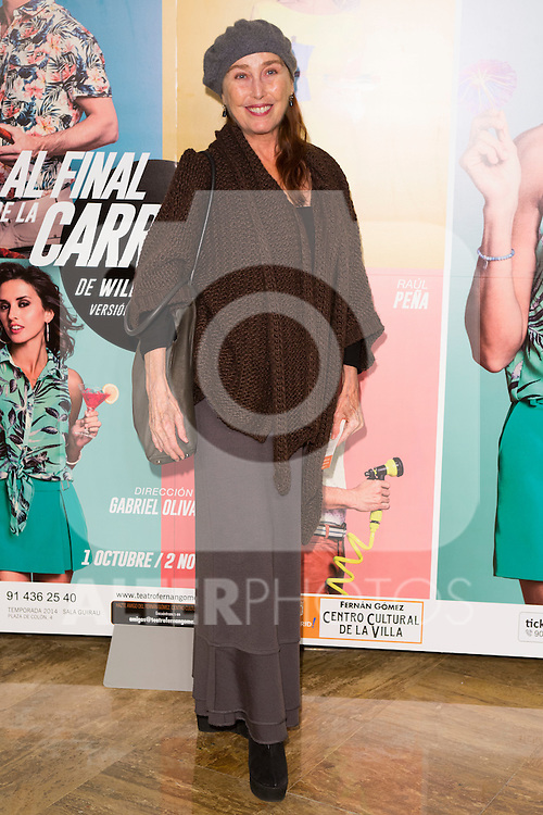 "Veronica Forque attends the Premiere of the Theater Play ""Al Final de la carretera"" at Fenan Gomez Theatre in Madrid, Spain. October 7, 2014. (ALTERPHOTOS/Carlos Dafonte)"