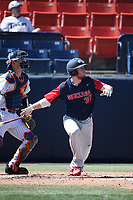 Justin Jacobs (37) of the Gonzaga Bulldogs bats against the Cal State Fullerton Titans at Goodwin Field on March 12, 2017 in Fullerton, California. Fullerton defeated Gonzaga, 3-2. (Larry Goren/Four Seam Images)