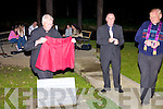 Fr. unveils the plaque in honor of Pat Sweeney in Athea on Friday night.   Copyright Kerry's Eye 2008