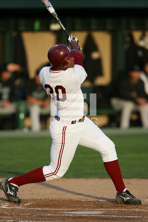 20 February 2007: Michael Taylor during Stanford's 4-1 win against the USF Dons at Sunken Diamond in Stanford, CA.