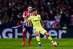 Jorge Koke of Atletico de Madrid (L) fights for the ball with Sergi Roberto Carnicer of FC Barcelona (R) during the La Liga 2018-19 match between Atletico Madrid and FC Barcelona at Wanda Metropolitano on November 24 2018 in Madrid, Spain. Photo by Diego Souto / Power Sport Images