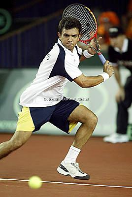 20030921, Zwolle, Davis Cup, NL-India, Mankad