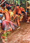 "Fijian traditional war dance, Fiji Islands, South Pacific 1980. Scanned from original 7"" x 5""print"