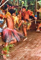 "Fijian traditional war dance, Fiji Islands, South Pacific 1980. Scanned from original 7"" x 5""print"