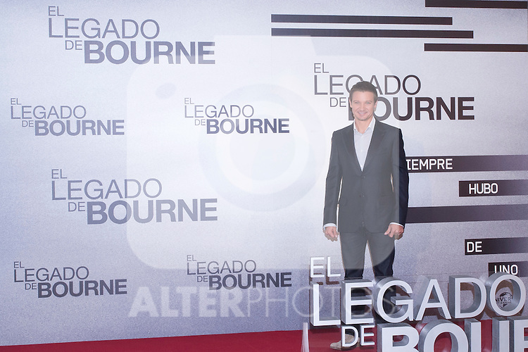 18.07.2012. Presentation at the Hotel Villamagna in Madrid the movie ´The Bourne Legacy ' with the actor Jeremy Renner. In the image Jeremy Renner (Alterphotos/Marta Gonzalez)