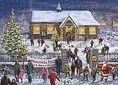 Marcello, CHRISTMAS LANDSCAPES, WEIHNACHTEN WINTERLANDSCHAFTEN, NAVIDAD PAISAJES DE INVIERNO, paintings+++++,ITMCXM1842,#XL# ,puzzle