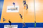 06.05.2018, Max Schmeling Halle, Berlin<br />Volleyball, Bundesliga MŠnner / Maenner, Play-offs, Finale 4. Spiel, Berlin Recycling Volleys vs. VfB Friedrichshafen<br /><br />Jubel Thilo SpŠth-Westerholt / Spaeth-Westerholt (#3 Friedrichshafen), Vital Heynen (Trainer / Coach Friedrichshafen), Tomas Kocian (#17 Friedrichshafen), Markus Steuerwald (#13 Friedrichshafen), Daniel Malescha (#11 Friedrichshafen), Philipp Collin (#9 Friedrichshafen), David Sossenheimer (#5 Friedrichshafen), Athanasios Protopsaltis (#7 Friedrichshafen) nach Matchball / Sieg<br /><br />  Foto &copy; nordphoto / Kurth