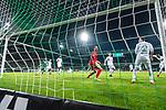 11.02.2018, Weserstadion, Bremen, GER, 1.FBL, SV Werder Bremen vs VfL Wolfsburg<br /> <br /> im Bild<br /> Koen Casteels (VfL Wolfsburg #01) beim 1:0, aufgenommen mit remote / Hintertorkamera, <br /> <br /> Foto &copy; nordphoto / Ewert