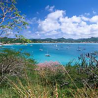 Caribbean, Lesser Antilles, Saint Lucia, Pigeon Island, View over Rodney Bay | Karibik, Kleine Antillen, Saint Lucia, Pigeon Island, Rodney Bay