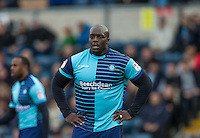 Adebayo Akinfenwa of Wycombe Wanderers during the Sky Bet League 2 match between Wycombe Wanderers and Barnet at Adams Park, High Wycombe, England on 22 October 2016. Photo by Andy Rowland.