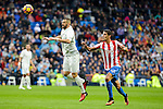 Real Madrid's player XXX and Sporting de Gijon's player Rachid during match of La Liga between Real Madrid and Sporting de Gijon at Santiago Bernabeu Stadium in Madrid, Spain. November 26, 2016. (ALTERPHOTOS/BorjaB.Hojas)