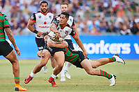 Roger Tuivasa-Sheck of the NZ Warriors, Rabbitohs v Vodafone Warriors, NRL rugby league premiership. Optus Stadium, Perth, Western Australia. 10 March 2018. Copyright Image: Daniel Carson / www.photosport.nz