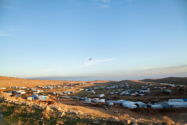 12/11/2015-- Iraq,Sinjar -- A view of the IDP's camp near Sinjar town which the Yizidian refugees were staying in a wait of liberating Sinjar.