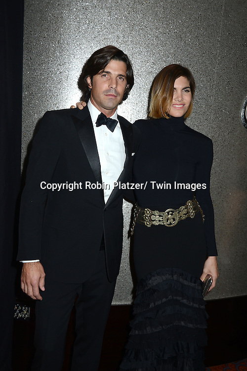 Nacho Figueras and wife Delfina  attend the Vanidades Icons of Style Gala on September 19, 2013 at the Mandarin Oriental Hotel in New York City.