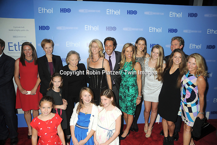 Ethel Kennedy and Rory Kennedy and Ted Kennedy, Jr and Doug Kennedy and Kennedy grandchildren