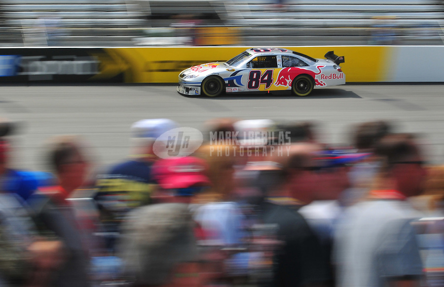 May 2, 2008; Richmond, VA, USA; NASCAR Sprint Cup Series driver A.J. Allmendinger during practice for the Dan Lowry 400 at the Richmond International Raceway. Mandatory Credit: Mark J. Rebilas-